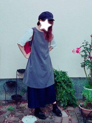 emu☺︎*さんの「マルチノースリ裾フレアワンピース【niko and...】(niko and...|ニコアンド)」を使ったコーディネート