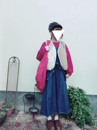 emu☺︎*さんの「ボートネックボリューム袖プルオーバー(w closet|ダブルクローゼット)」を使ったコーディネート