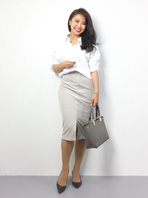 natsuさんの「ビックネックシャツ◆(Spick & Span)」を使ったコーディネート