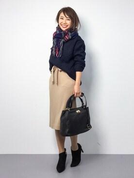 ZOZOTOWN|natsuさんの「カラーウールストール(ROPE' PICNIC)」を使ったコーディネート