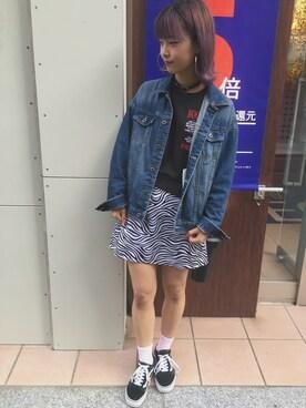 WEGO 仙台店|かほてぃさんの「WEGO/フープピアス(WEGO)」を使ったコーディネート