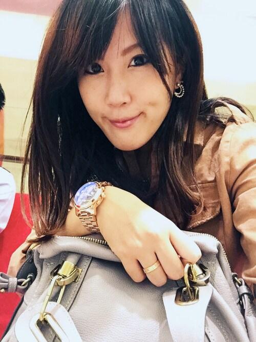 Winnie Changさんの「Michael Kors Michael Kors Mid-Size Rose Golden Stainless Steel - 20151018135940430_500