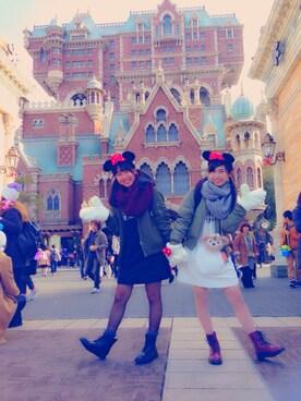 c h a m ///さんの(Disney|ディズニー)を使ったコーディネート