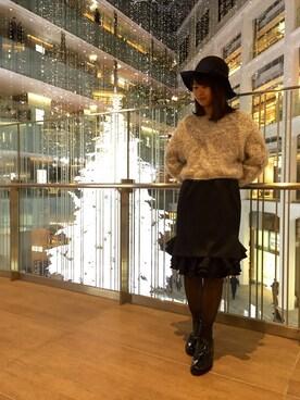 Salon de Balcony KITTE丸の内店|Maika Yoshikiさんの「つば広ハット(Balcony and Bed)」を使ったコーディネート
