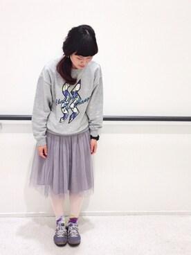 むつ子さんの「チュール ミドルスカート(PAR ICI|パーリッシィ)」を使ったコーディネート