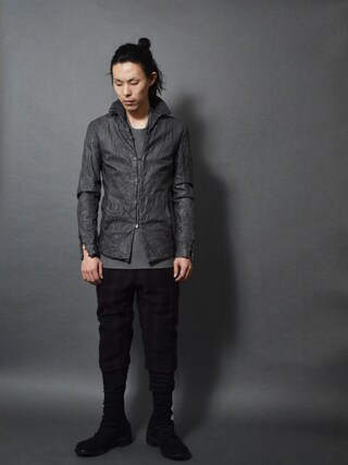 DEVIANT名古屋さんの「Lumen et Umbra Hooked Leather Jacket(Lumen et Umbra|ルーメンエットウンブラ)」を使ったコーディネート
