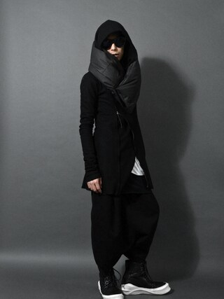 DEVIANT名古屋さんの「idéal wrap hooded bias fastner extra stretch sweat」を使ったコーディネート
