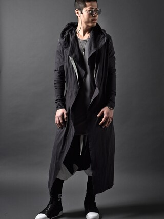 DEVIANT名古屋さんの「A.F ARTEFACT JERSEY LONG HOODED CARDIGAN(A.F homme|エーエフ オム)」を使ったコーディネート