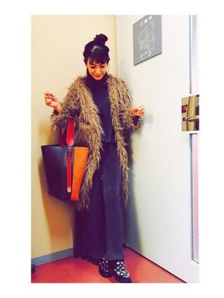 「TEDDY LONG FUR COAT(AMERI)」 using this スザンヌ looks