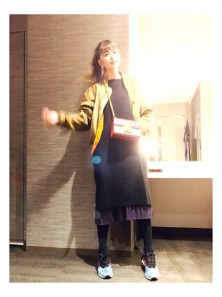 「<スザンヌさんコラボ>ラブ&ピースプロジェクト リップル編みニットワンピース(haco!)」 using this スザンヌ looks