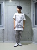 「Undercover Printed Cotton-Jersey T-Shirt(Undercover)」 using this よしき looks