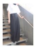 ayalyさんの「ベルトハイウエストパンツ(LE CIEL BLEU|ルシェルブルー)」を使ったコーディネート