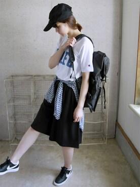 ナチュラル服のイタフラさんの(LACOSTE|ラコステ)を使ったコーディネート