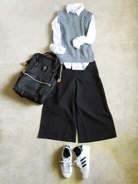 「adidas Women's Superstar Casual Sneakers from Finish Line(adidas)」 using this ナチュラル服のイタフラ looks