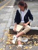 yukoさんの「UAW チノパンツ†¶ ◆(UNITED ARROWS|ユナイテッドアローズ)」を使ったコーディネート