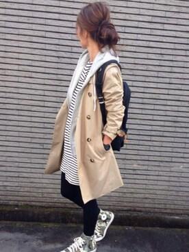 yukoさんの「靴下屋/ 110デニールスポンディッシュタイツ(靴下屋|クツシタヤ)」を使ったコーディネート