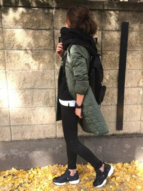 yukoさんの「Quilting coat(The Dayz tokyo)」を使ったコーディネート