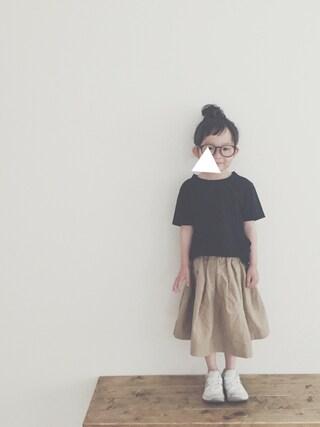 keemiiiiiさんの「【ORCIVAL】キッズコットンロードバスクシャツ(ORCIVAL|オーシバル)」を使ったコーディネート