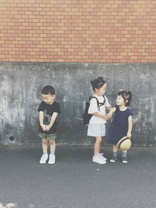 keemiiiiiさんの「【CONVERSE(コンバース)】SKIDGRIP スリッポン15cm-19cm(CONVERSE|コンバース)」を使ったコーディネート