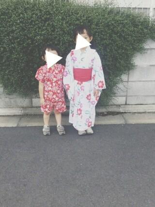 keemiiiiiさんの「【WEB限定】▲女児用浴衣(5歳~6歳)(UNITED ARROWS|ユナイテッドアローズ)」を使ったコーディネート