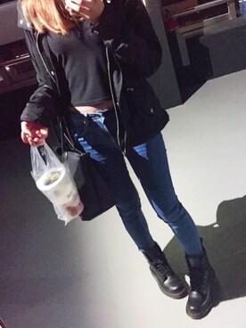「Longchamp Le Pliage Neo Large Shoulder Tote Bag, Black(Longchamp)」 using this チチ looks