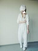 kiii.さんの「[大人女子のベーシックTEE]ベーシック・ドルマンTシャツチュニック/トップス/とろみシャツ(philter|フィルター)」を使ったコーディネート