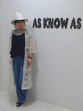 AS KNOW AS PINKYラフォーレ新潟|たけだ らぶらさんの「(P10740)フラッグポケっT(AS KNOW AS PINKY)」を使ったコーディネート