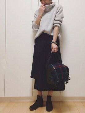 manaさんのスカート「Wラッププリーツスカート(TODAYFUL トゥデイフル)」を使ったコーディネート