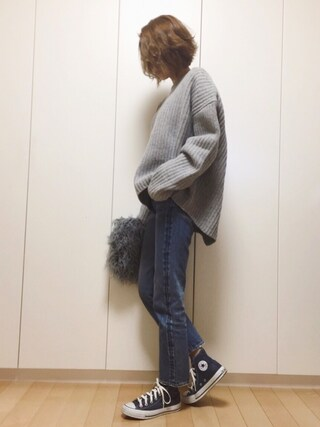 「TWIST BULKY LG TOPS(SLY)」 using this mana looks