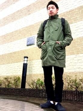 enomonさんの(Engineered Garments|エンジニアードガーメンツ)を使ったコーディネート