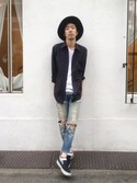 「Comme des Garçons Trim Fit Cotton Oxford Shirt(Comme des Garcons)」 using this ケンタロー looks