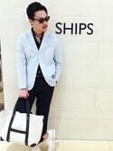 SHIPS ��q�ʐ�X�b�ɓ�����̃T���O���X�uSCO: SHIPS eyewear �i�V�b�v�X �A�C�E�F�A�j �{�X�����g�� �T���O���X���iSHIPS�b�V�b�v�X�j�v���g�����R�[�f�B�l�[�g
