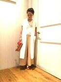 BLISS POINT ラゾーナ川崎店 Womens Staffさんの「タッセルインドガラポーチ/720224(BLISS POINT|ブリスポイント)」を使ったコーディネート