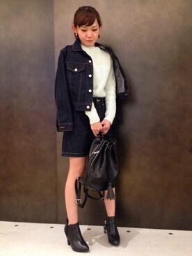 AZULbymoussyMOZOワンダーシティー店|Satake Yukaさんの「JAPANファブリックデニムSK(AZUL by moussy|アズールバイマウジー)」を使ったコーディネート