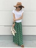 Satake Yukaさんの「エスパンディフルギャザースカーチョ(AZUL by moussy|アズールバイマウジー)」を使ったコーディネート