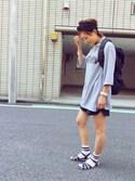 ayamiiiiさんの「SOFFE / ARMY モックネック T(BEAMS BOY|ビームスボーイ)」を使ったコーディネート