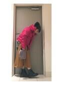高橋愛さんの「取り外し可能3wayポンポンチャーム付フェイクファーチェーンクラッチバッグ B905(KOBE LETTUCE|KOBE LETTUCE)」を使ったコーディネート