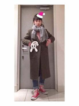 「ビーバーLチェスターコート 564939(LOWRYS FARM)」 using this 高橋愛 looks