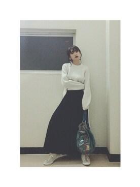 高橋愛さんの(Onitsuka Tiger × ANDREA POMPILIO|オニツカタイガー アンドレアポンピリオ)を使ったコーディネート