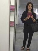 Mayumiさんの「★《予約》 Blanc クロップドパンツ(Deuxieme Classe|ドゥーズィエムクラス)」を使ったコーディネート