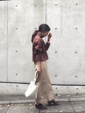 LIFE's代官山店|Hina...☻*さんの「パッチワークケーブルニット(TODAYFUL)」を使ったコーディネート