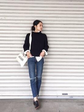 LIFE's代官山店|Hina...☻*さんの「タートルネックリブニット(TODAYFUL)」を使ったコーディネート