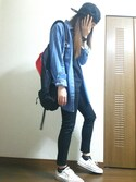 「FOREVER 21 Distressed Denim Shirt(Forever 21)」 using this ゆきまき looks