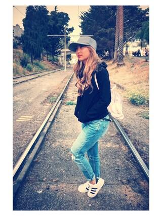 「Topshop Moto 'Lucas' Slim Shredded Crop Jeans (Mid Denim) (Petite)(Topshop)」 using this Kitty Mijares looks