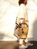 「Rag & bone Rag & Bone Ines Striped Wool-Blend Wrap(Rag and Bone)」 using this B. looks