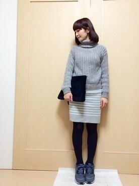 miyukiさんの「シャツコンビオフタートルプルオーバー/553885(JEANASIS|ジーナシス