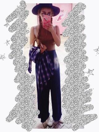 夏焼雅さんの「ジャストウエストガウチョ(EMODA|エモダ)」を使ったコーディネート