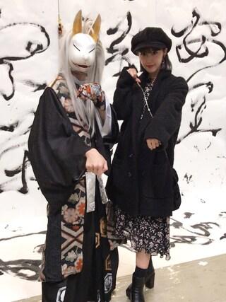 夏焼雅さんの「LACE UP DRAPE OP(EMODA|エモダ)」を使ったコーディネート