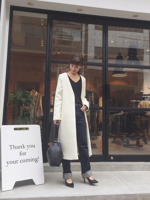 Nakai     Ayamiさんの「メルトンロングコート(TODAYFUL)」を使ったコーディネート