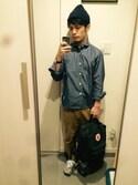 「Forest Green Kanken Classic Backpack(Fjallraven Kanken)」 using this Ryo-ji looks